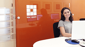 Reception and support services at Blue Square Offices.